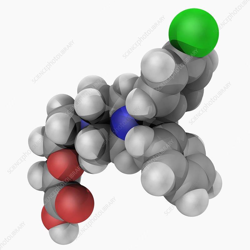 Cetirizine drug molecule