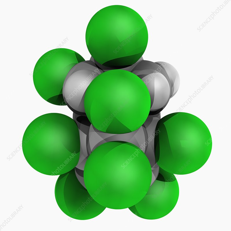 Chlordane molecule