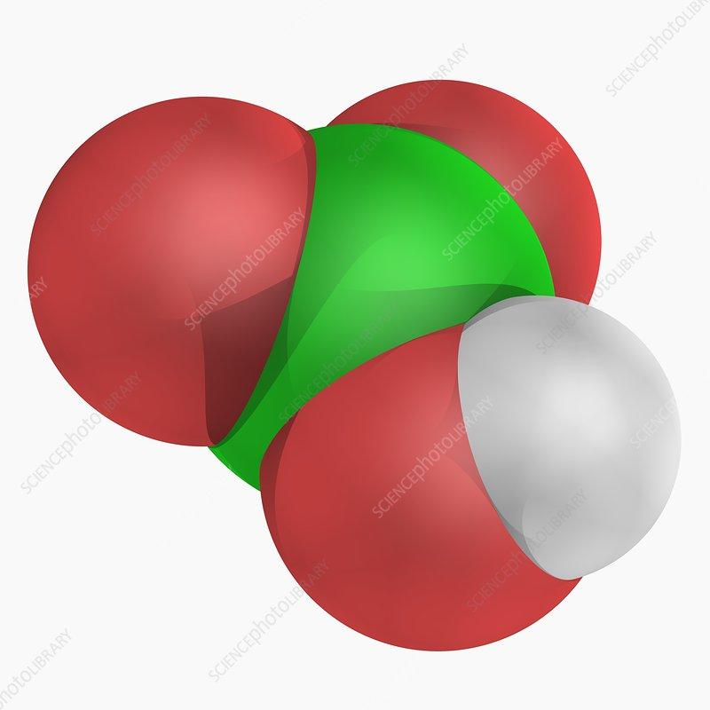 Chloric acid molecule