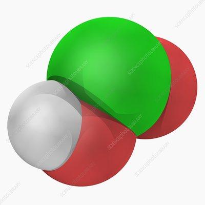 Chlorous acid molecule