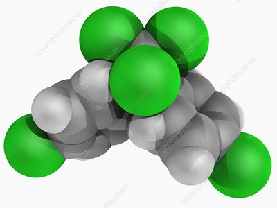 DDT insecticide molecule
