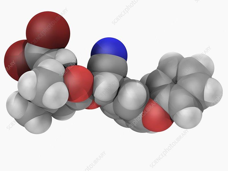 Deltamethrin insecticide molecule
