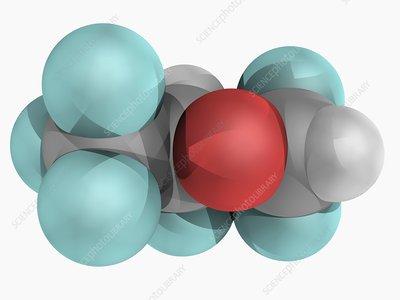 Desflurane molecule