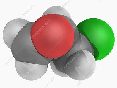 Epichlorhydrin molecule