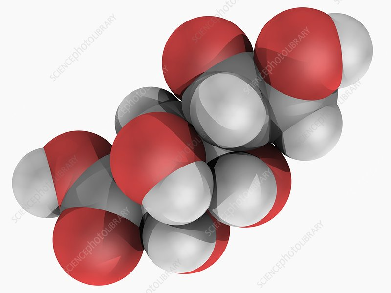 Gluconic acid molecule