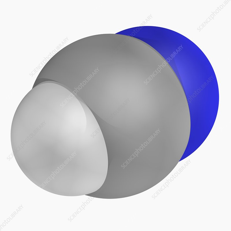 Hydrogen cyanide molecule - Stock Image F004/7110 ...