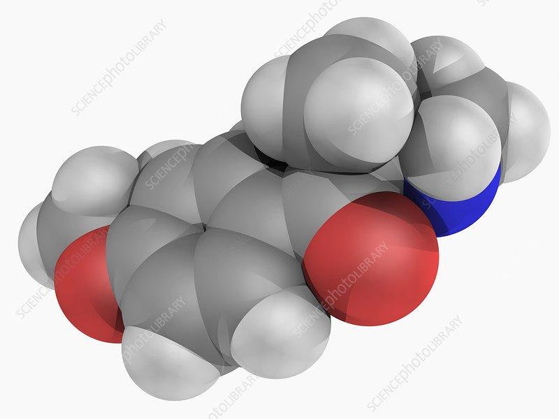 Methedrone drug molecule
