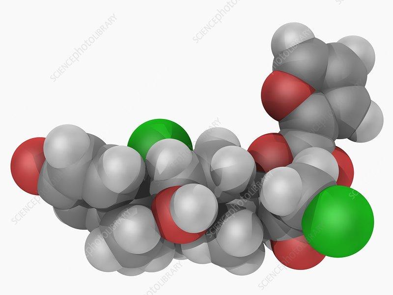Mometasone furoate drug molecule