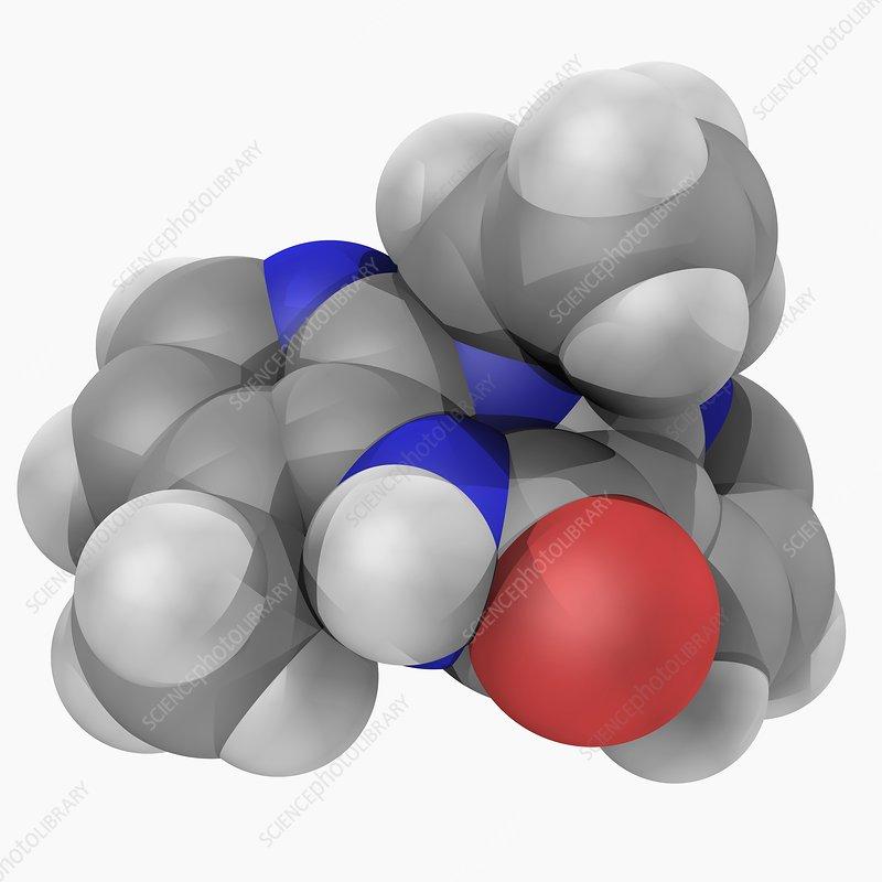 Nevirapine drug molecule