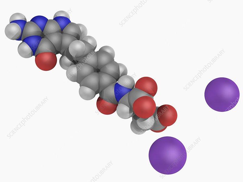 Pemetrexed disodium drug molecule