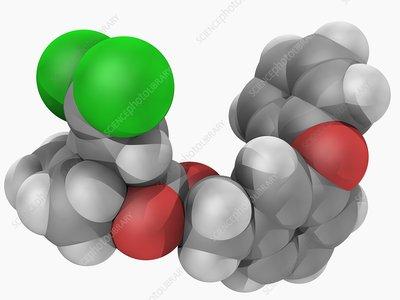 Permethrin insecticide molecule