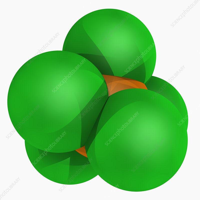 Phosphorus pentachloride molecule