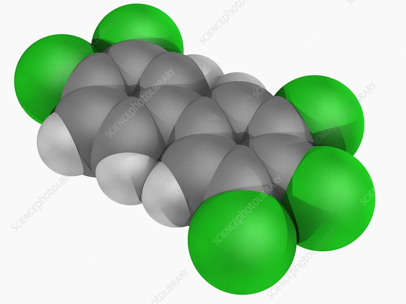 Polychlorinated biphenyl molecule