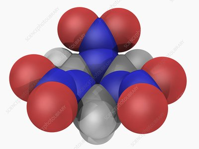 RDX explosive molecule