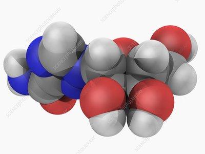 Ribavirin drug molecule