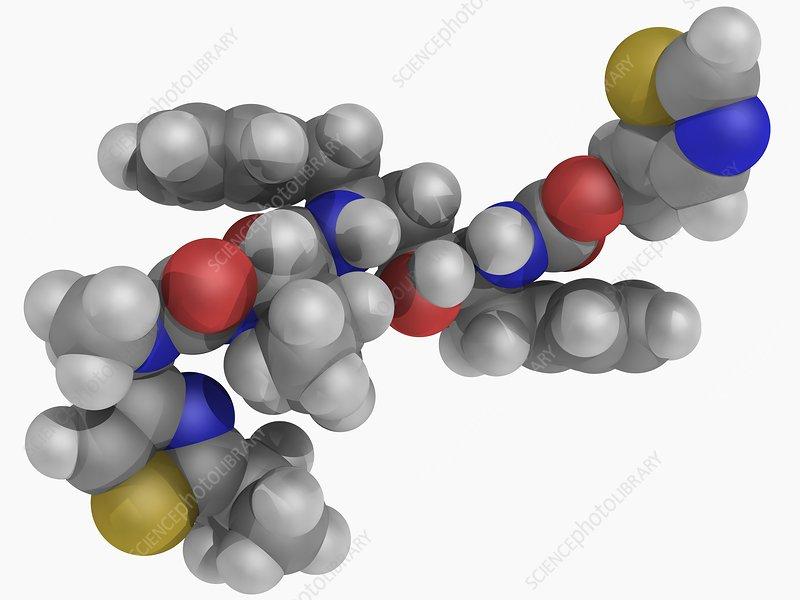 Ritonavir drug molecule