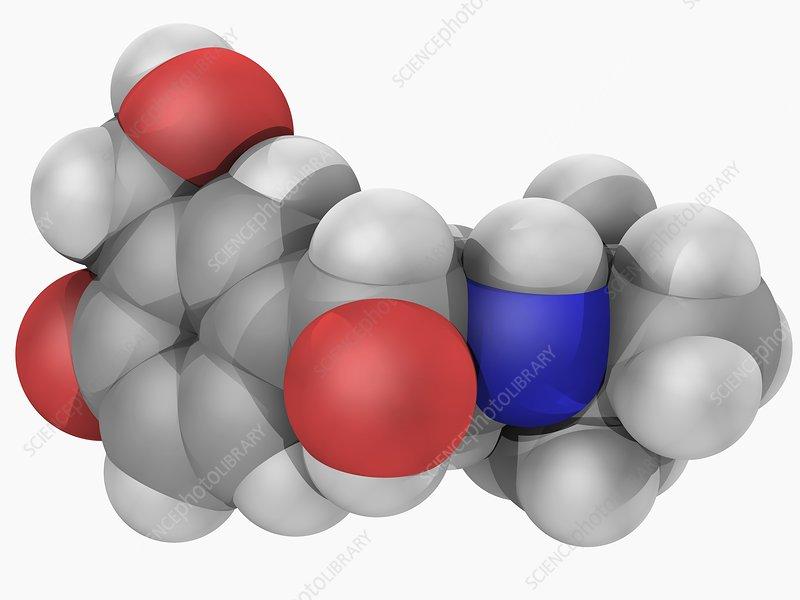 Salbutamol drug molecule