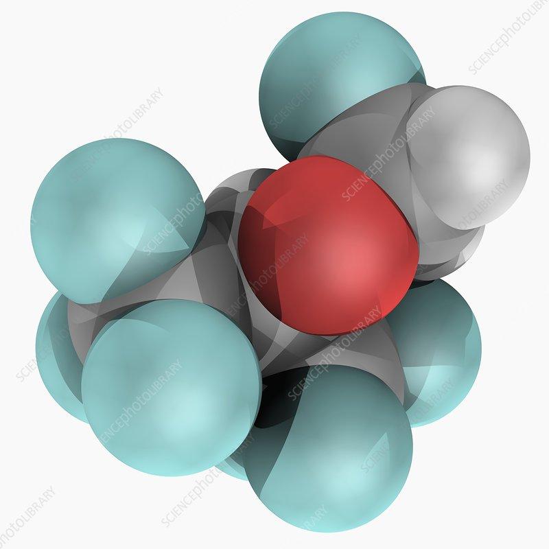 Sevoflurane drug molecule