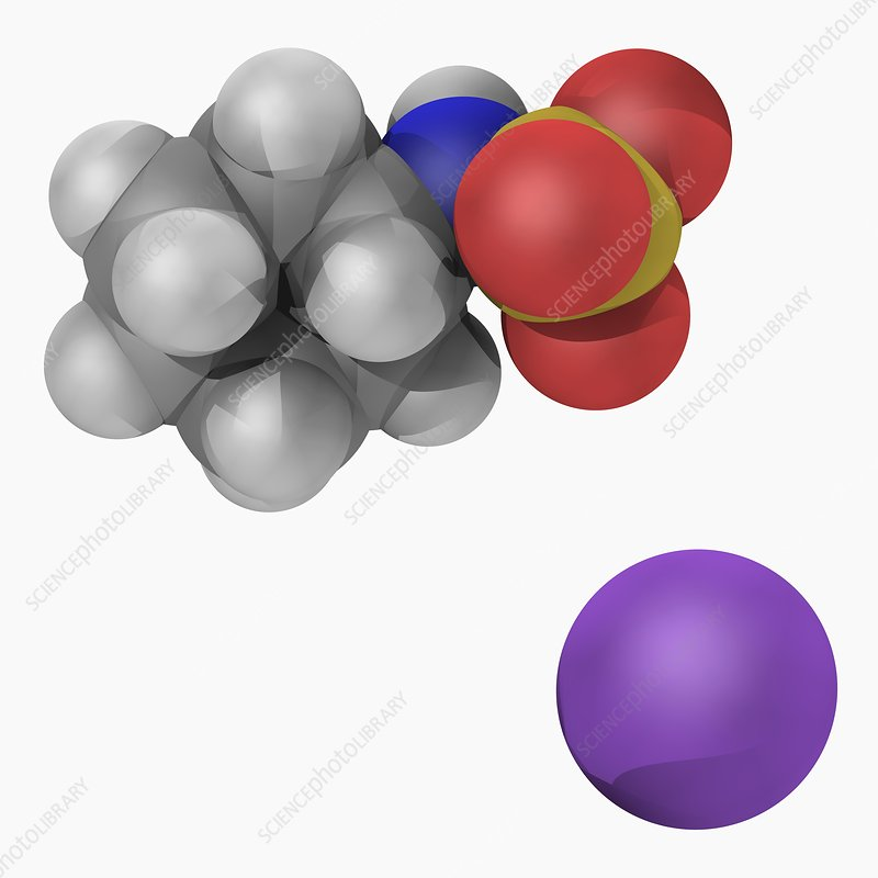 Sodium cyclamate molecule