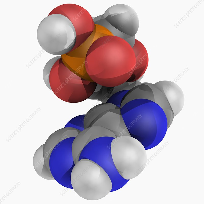 Tenofovir drug molecule