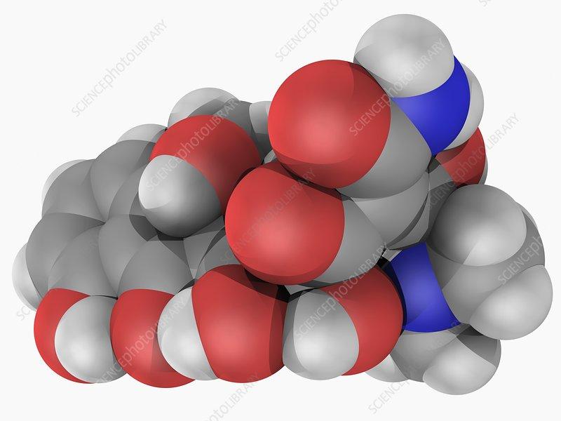 Tetracycline drug molecule