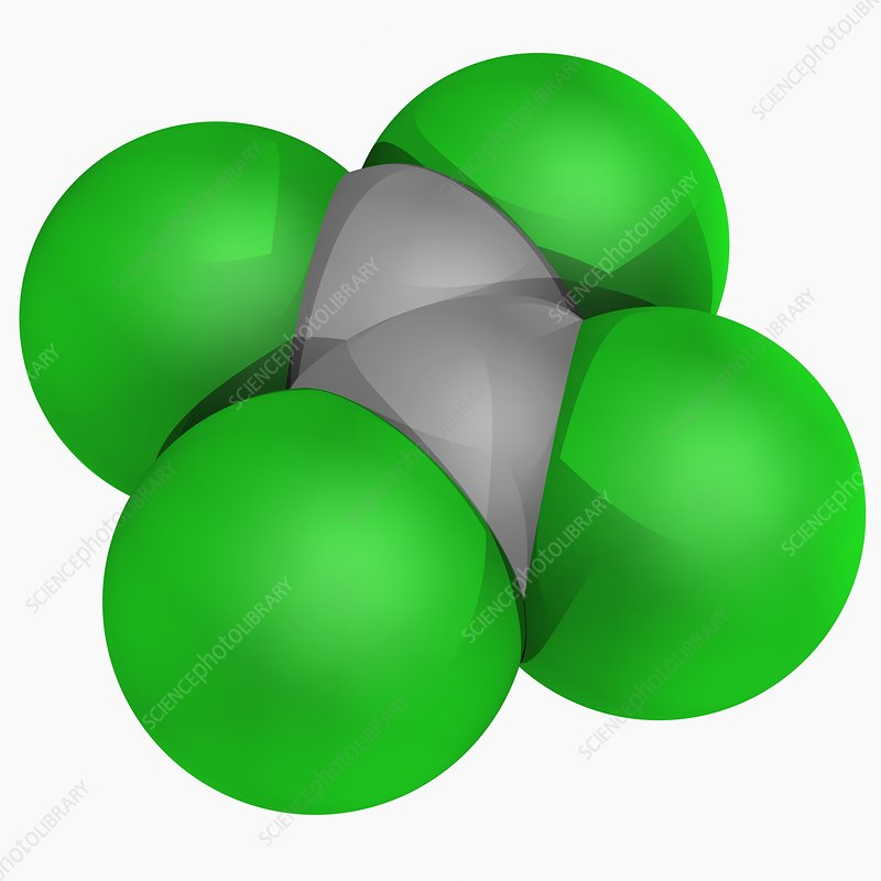 Tetrachloroethylene molecule