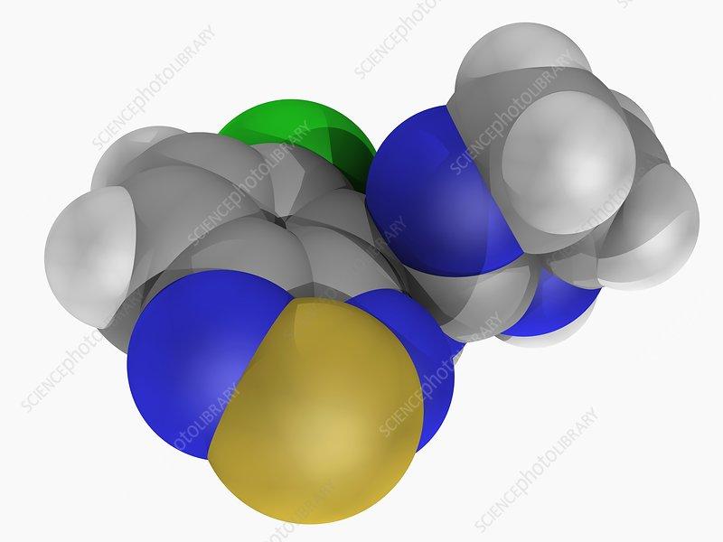 Tizanidine drug molecule