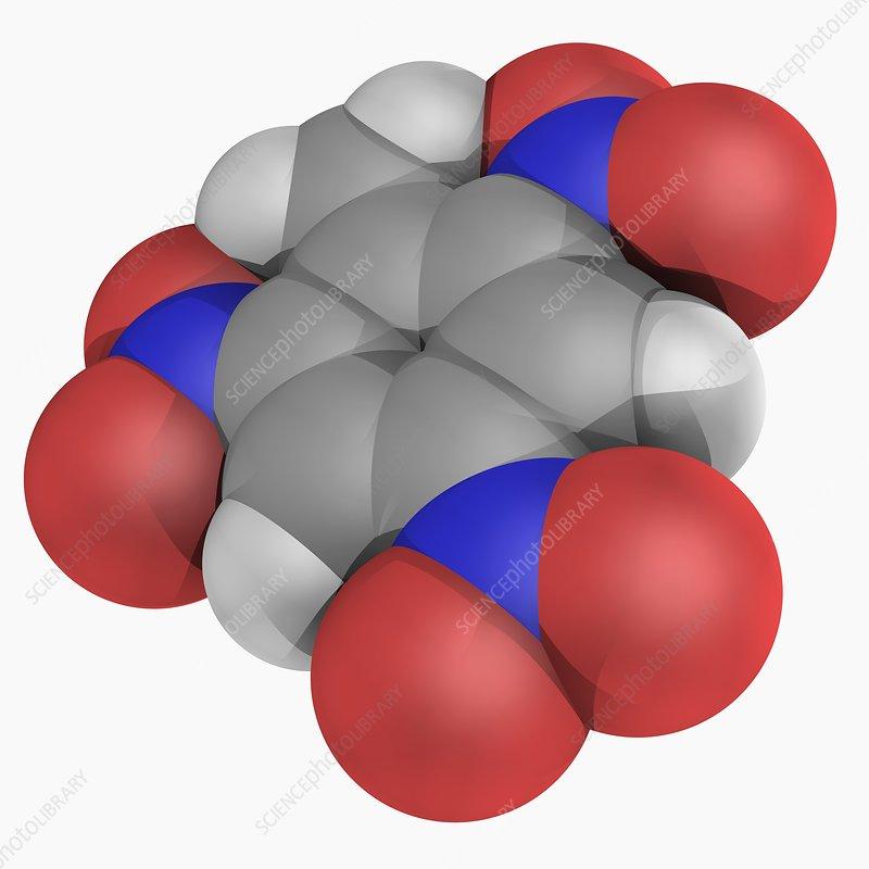Trinitrotoluene TNT molecule