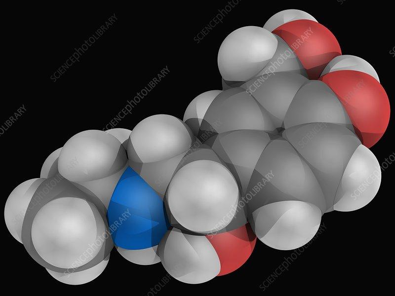 Albuterol drug molecule