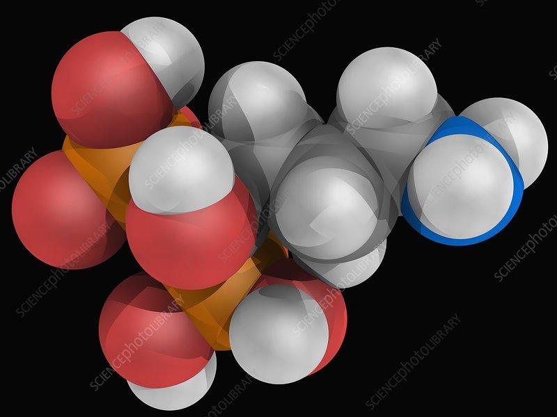 Alendronic acid drug molecule