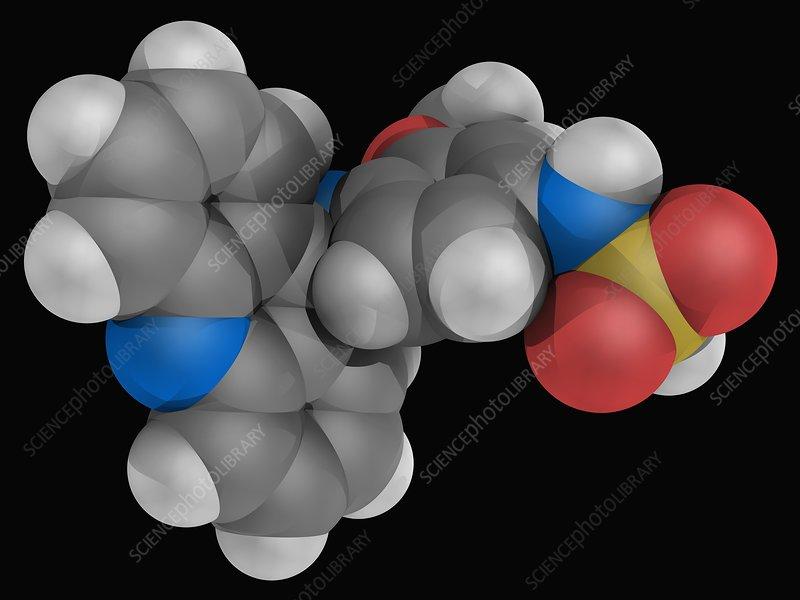 Amsacrine drug molecule