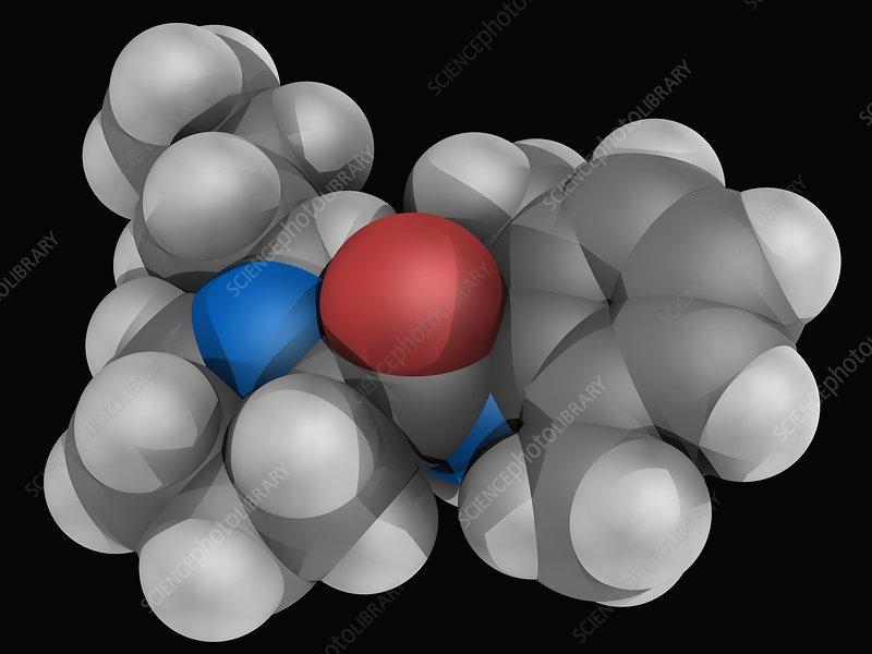 Bupivacaine drug molecule