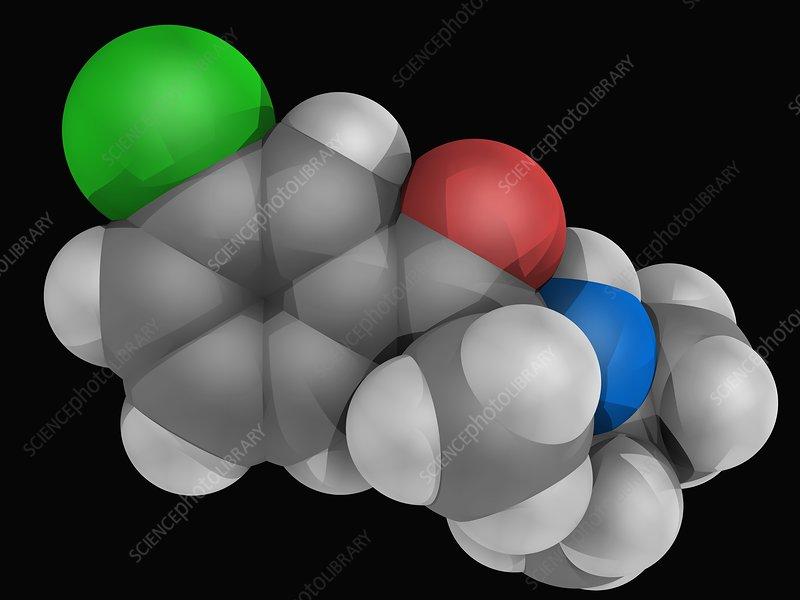 Bupropion drug molecule