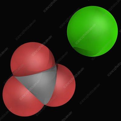 Calcium carbonate molecule - Stock Image F004/8303 ...