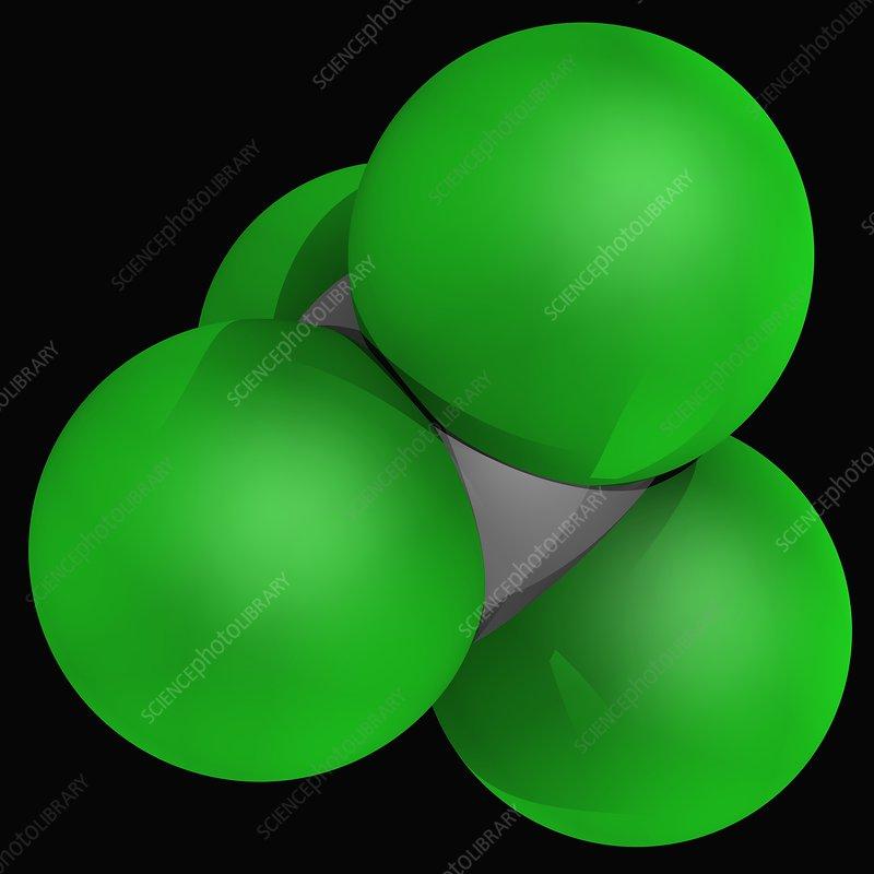 Carbon tetrachloride molecule