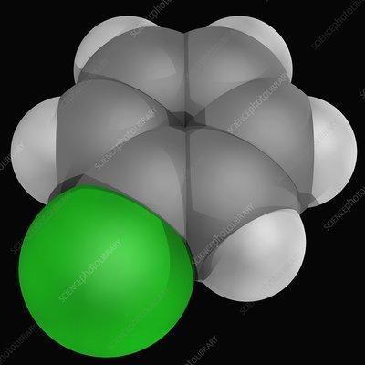 Chlorobenzene molecule