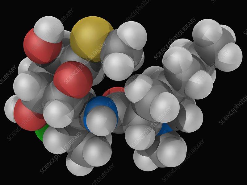 Clindamycin drug molecule