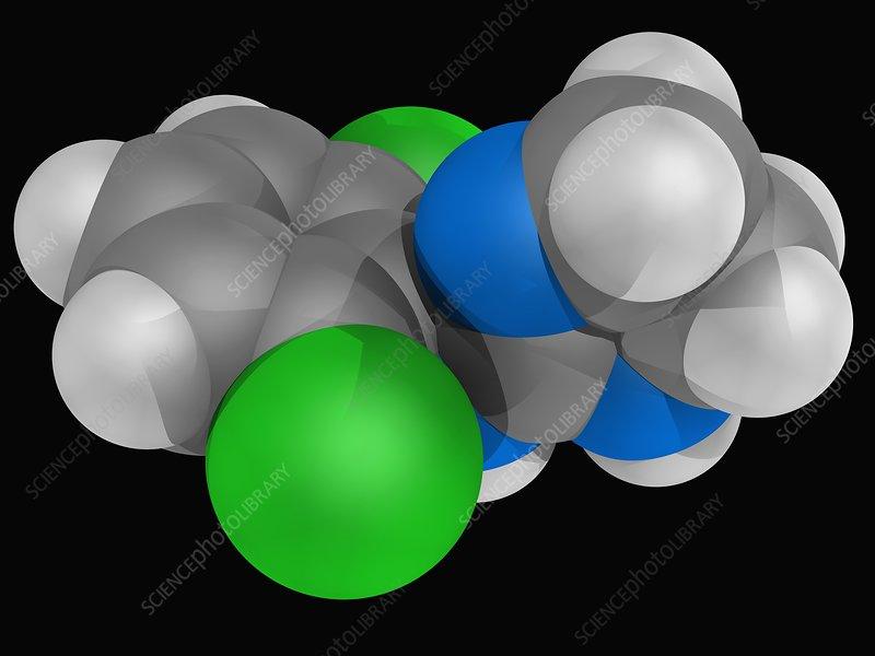 Clonidine drug molecule