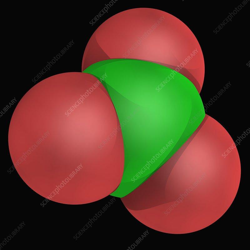 Chlorate ion molecule