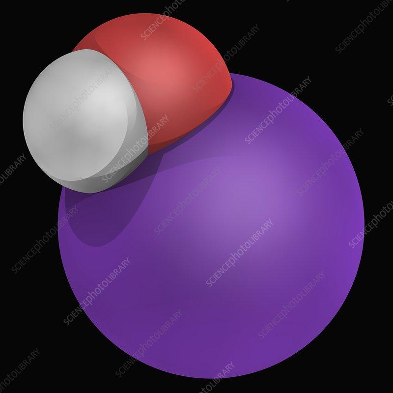 Potassium hydroxide molecule - Stock Image F004/8689 ...