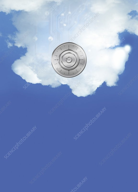 Cloud computing, conceptual artwork