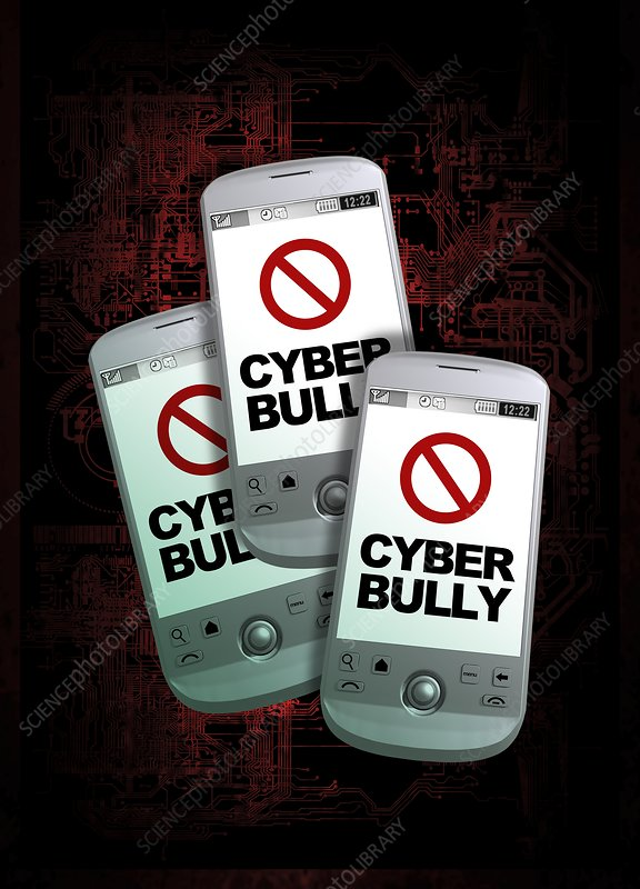 Cyber bullying, conceptual artwork