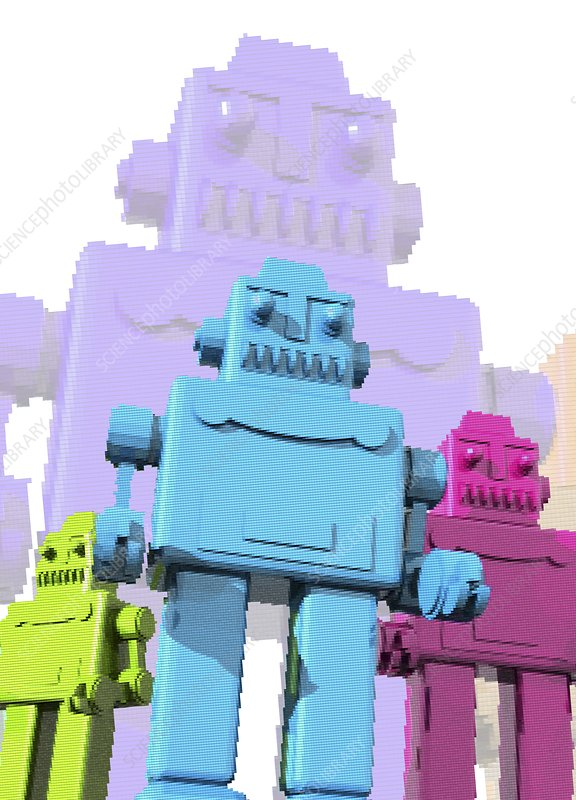 Retro robots, artwork