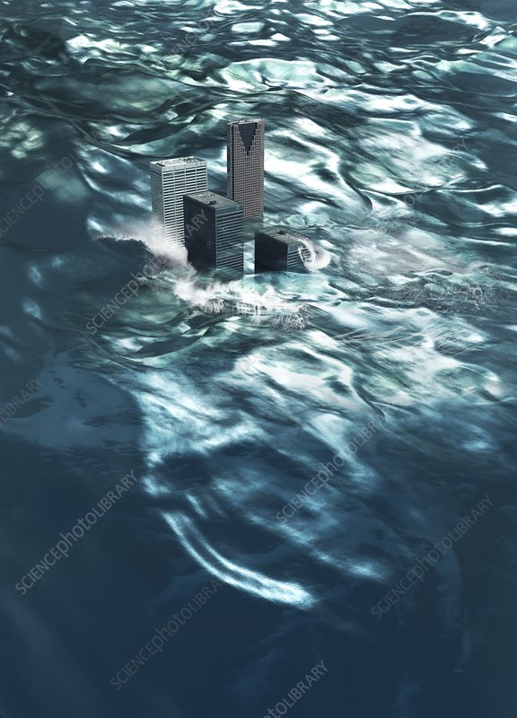 Flooding, conceptual artwork