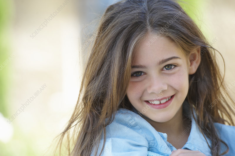 Close up of girl's smiling face