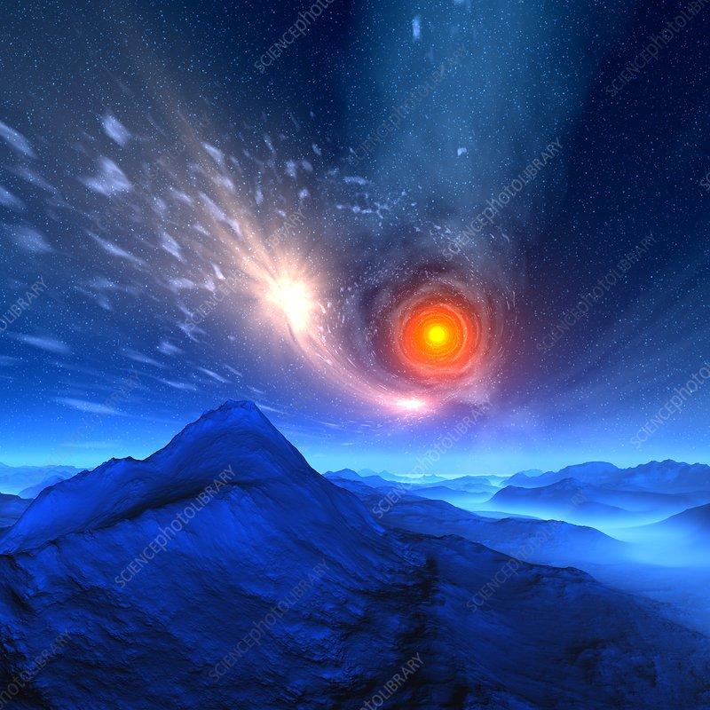 Alien planet, artwork - Stock Image F005/0146 - enlarged - Science ...