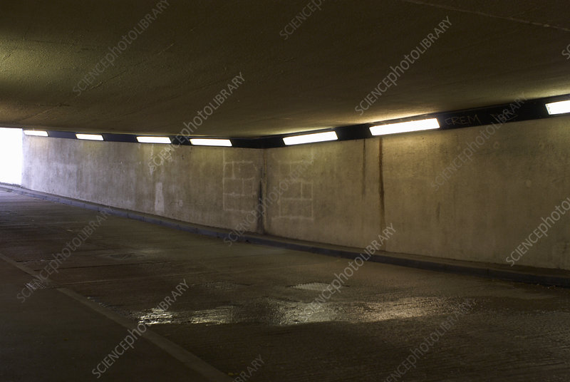 Lighting in tunnel