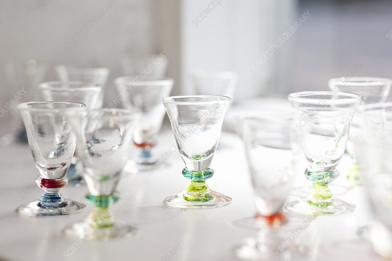 Close up of ornate glasses