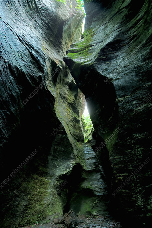 Rock formations in cavern