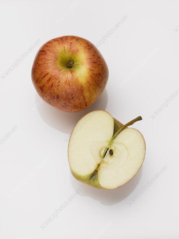 Close up of sliced apple